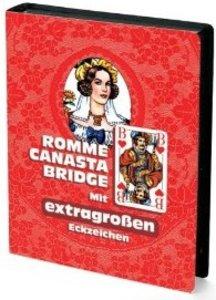 Rommé, Canasta, Bridge. Mit extragroßen Eckzeichen