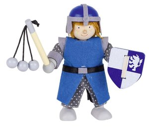 Goki 51640 - Biegepuppe Ritter Blau