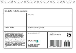Die Bahn im SalzburgerlandAT-Version (Tischkalender 2017 DIN A5