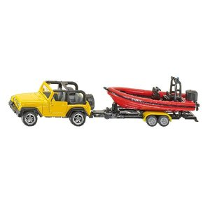 SIKU 1658 - Jeep mit Boot