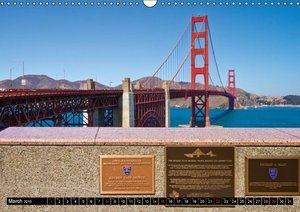 GOLDEN GATE BRIDGE - San Francisco (UK - Version) (Wall Calendar