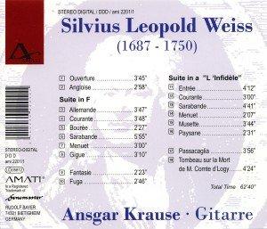 Ansgar Krause Spielt Sylvius Leopold Weiss