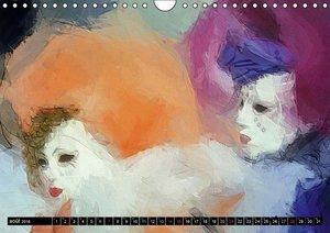 Venise l'art des masques (Calendrier mural 2016 DIN A4 horizonta