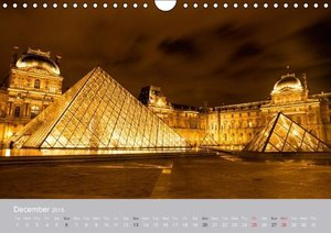 Paris City of Love (Wall Calendar 2015 DIN A4 Landscape)