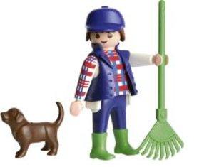 Auf dem Bauernhof, 60 Teile. Kinderpuzzle Playmobil mit Figur