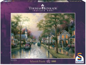 Schmidt Spiele 58441 - Thomas Kinkade: Morgen in der kleinen Sta