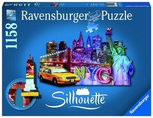 Ravensburger 16153,Skyline, New York 1158 Teile, Silhouette Puzz
