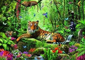 Tiger Dschungel. Puzzle