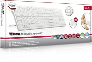 VERDANA Multimedia Keyboard, white