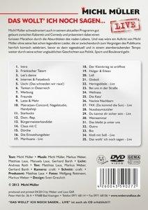 Das Wollt' Ich Noch Sagen...Live (DVD)