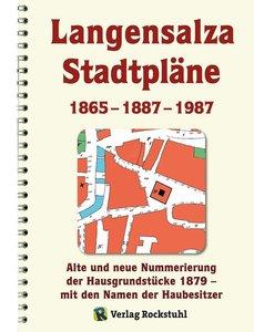 Historische Stadtpläne: Langensalza von 1865 - 1887 - 1987 mit U