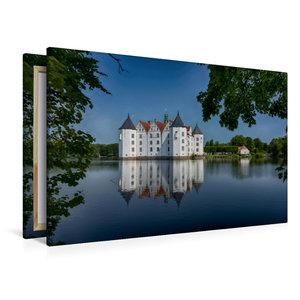 Premium Textil-Leinwand 120 cm x 80 cm quer Wasserschloss Glücks