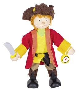 Goki 51620 - Biegepuppe Piratenkapitän