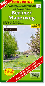 Berliner Mauerweg 1 : 20 000. Radwander- und Wanderkarte