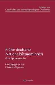 Frühe deutsche Nationalökonominnen