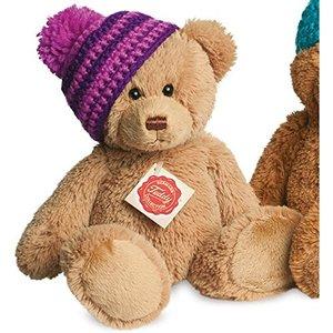 Teddy Hermann 91182 - Teddy Gold mit Mütze, 25 cm