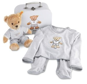 Steiff 239809 - Geschenkset Schlaf-gut-Bär im Koffer, 25 cm