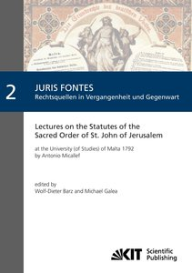 Lectures on the Statutes of the Sacred Order of St. John of Jeru