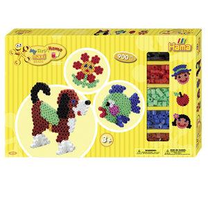 Hama 8712 - Geschenkpackung Maxiperlen, 2x Stiftplatte Hund & Kr