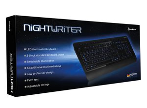 Sharkoon Nightwriter - Gaming Tastatur, schwarz