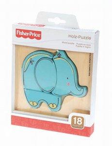 FisherPrice 32504 - Holzpuzzle Elefant, 4 Teile