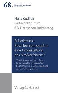 Verhandlungen des 68. Deutschen Juristentages Berlin 2010 Bd. I