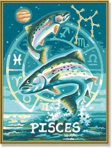 Schipper 609390671 - Malen nach Zahlen - Tierkreiszeichen Fische