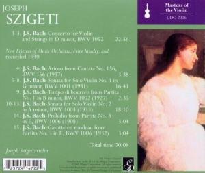 Szigeti Plays Bach