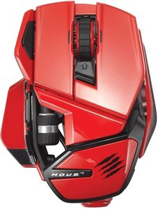 M.O.U.S. 9 Wireless Mouse, Maus, rot