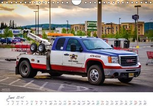 US Cars & Trucks in Alaska / UK-Version (Wall Calendar 2015 DIN