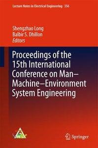 Proceedings of the 15th International Conference on Man-Machine-