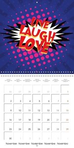 Kapow Love - Love in Comics (Wall Calendar 2015 300 × 300 mm Squ