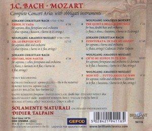 Mozart/J.C Bach : Konzert Arien