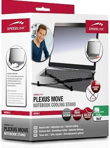 Speedlink SL-7465-BK PLEXUS MOVE Notebook Cooling Stand, Noteboo