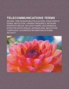 Telecommunications terms