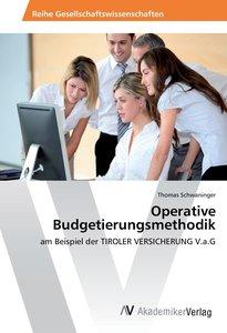 Operative Budgetierungsmethodik
