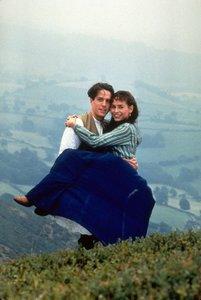 Der Engländer, der auf einen Hügel stieg und von einem Berg heru
