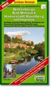 Radwander- und Wanderkarte Wittenberge, Bad Wilsnack, Hansestadt