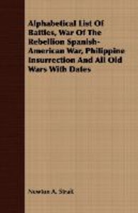 Alphabetical List Of Battles, War Of The Rebellion Spanish-Ameri