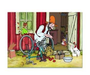 Noris 606031343 - Pettersson und Findus, Fahrrad