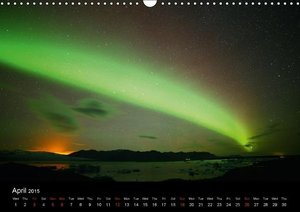 Iceland Northern Lights (Wall Calendar 2015 DIN A3 Landscape)