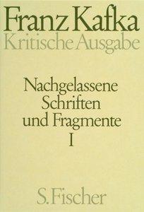 Nachgelassene Schriften und Fragmente I. Kritische Ausgabe