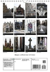 Glasgow - a different view / UK Version (Wall Calendar 2015 DIN