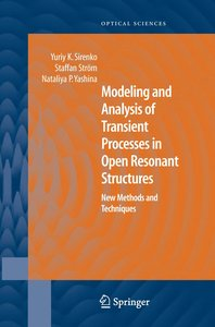 Modeling and Analysis of Transient Processes in Open Resonant St