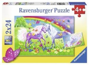 Regenbogenpferde. Puzzle 2 X 24 Teile