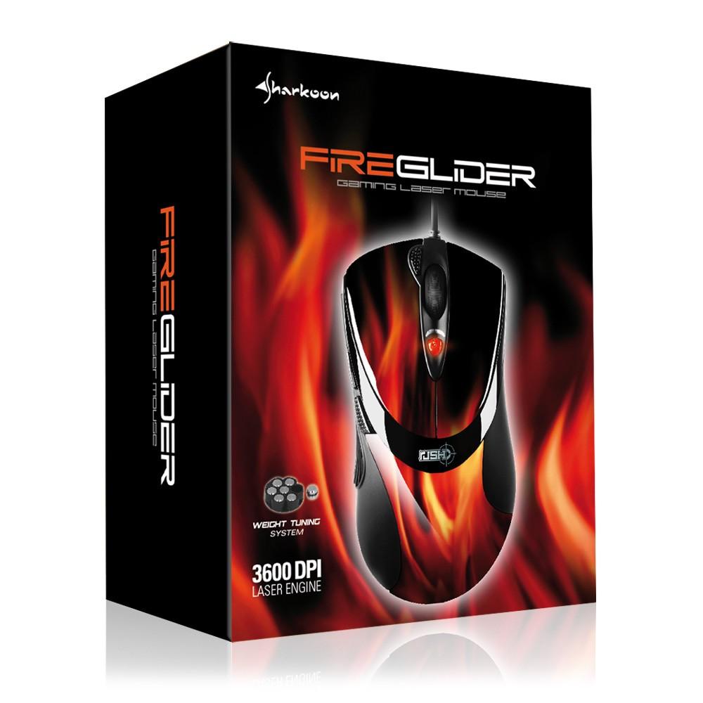 Sharkoon FireGlider - Gaming Mouse (Lasermaus) - zum Schließen ins Bild klicken