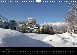 Monuments of Switzerland 2015 (Wall Calendar 2015 DIN A4 Landsca