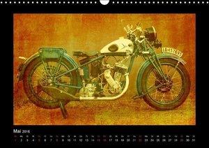 Motorrad Oldtimer (Wandkalender 2016 DIN A3 quer)