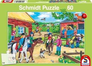 Ferien auf dem Reiterhof. Puzzle 60 Teile