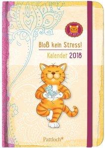 Om-Katze: Bloß kein Stress! Terminkalender 2018